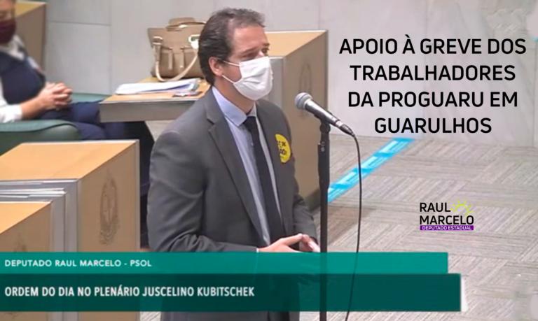 Apoio aos trabalhadores da Proguaru que estão em greve em Guarulhos